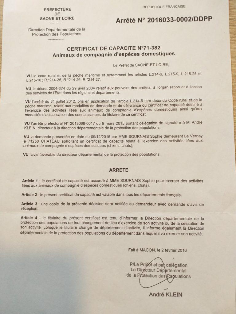 certificat petsitter 71 - Cluny, Mâcon, La Roche Vineuse, Tramayes